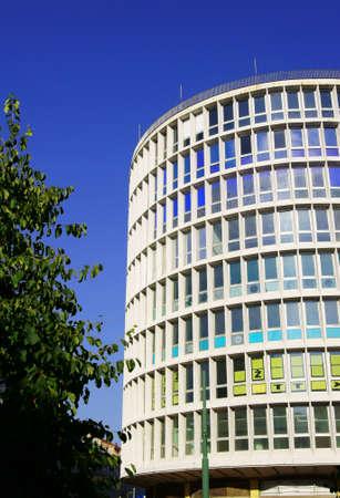 poznan: modernistic building in Poznan, Poland