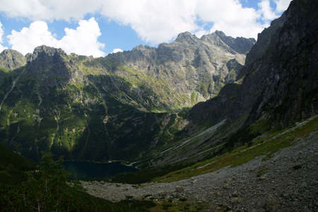 morskie: lake in mountains,Poland,Tatras,Morskie Oko
