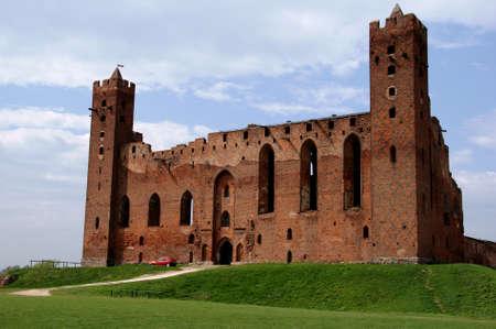 teutonic: rovine del castello gotico, Cavalieri Teutonici, Polonia Archivio Fotografico