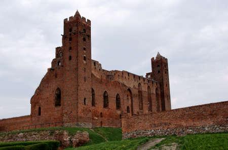 gothic castle: ruinas del castillo g�tico, los Caballeros Teut�nicos, Polonia