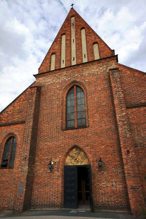 poznan: facade gothic church in Poznan, Poland Stock Photo