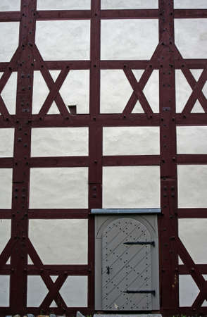 evangelical: evangelical church with half-timbered  wall, Poland