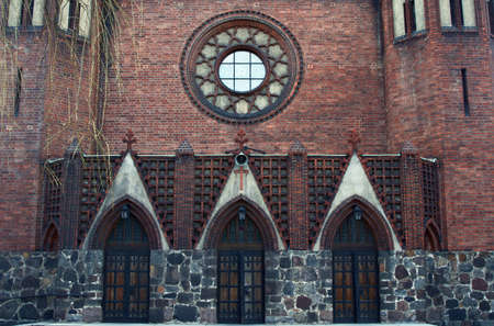 poznan: portal in gothic church in Poznan, Poland
