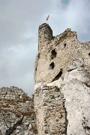 mirow: Ruined medieval castle with tower in Mirow, Poland Stock Photo