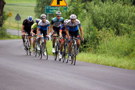 SOBOTKA, POLAND – June 22, 2013: Polish championship in road cycling on June 22, 2013 in Sobotka, Poland