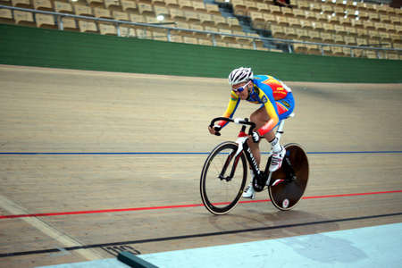 Pruszkow, Poland, July 2013:  Polish Junior Championships in track cycling, Stock Photo - 21119607