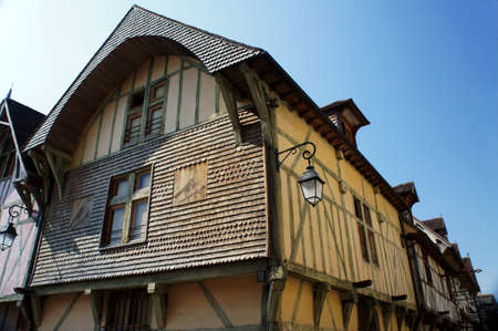 tenement: tenement house in old town of Troyes, France