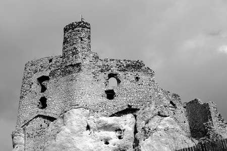 mirow: Ruined medieval tower and castle in Mirow, Poland