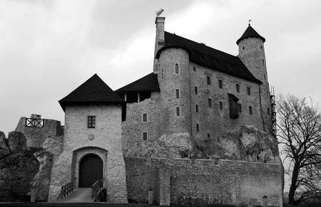 bobolice: Medieval castle with tower in Bobolice, Poland Editorial