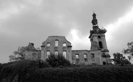 evangelical: evangelical church in ruins, Poland