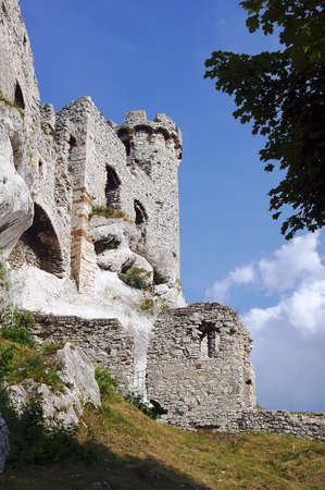 turret: turret ruined castle in Ogrodzieniec