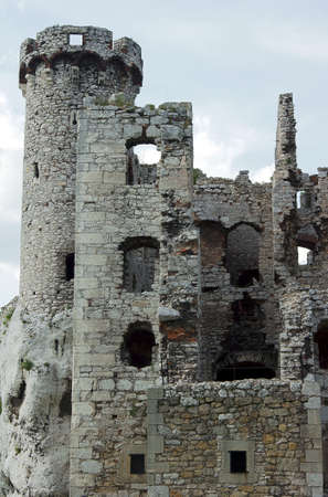 turret ruined castle in Ogrodzieniec
