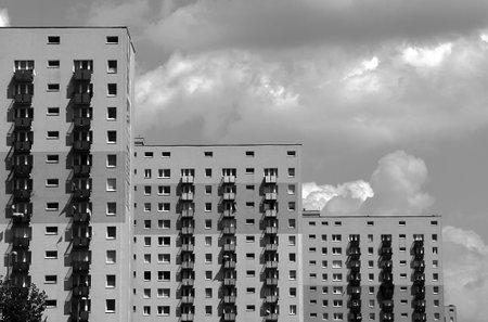 poznan: housing development with tower blocks in Poznan