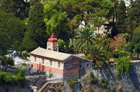 byzantine: byzantine church in Corfu town, Greece