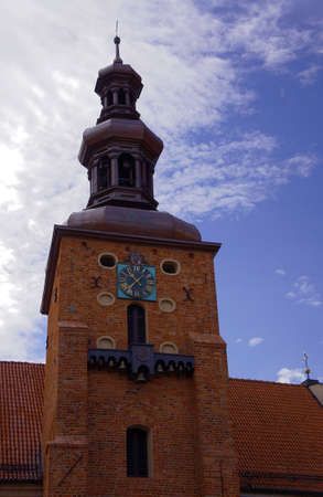 wielkopolska: The tower and the bells of the Gothic parish church in Gniezno Stock Photo