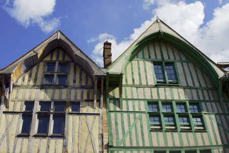 tenement: Medieval half-timbered tenement in Troyes, France