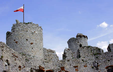 Towers of the ruined castle in Ogrodzieniec
