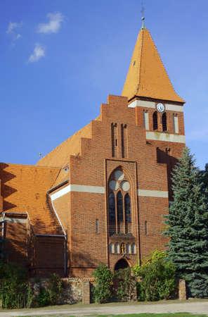 parish: Pseudo-Gothic parish church in Poland