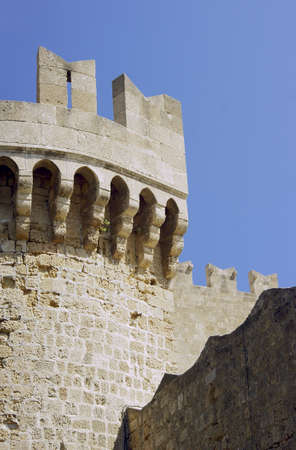 bastion: Bastion of the medieval Castle of the Knights in Rhodes Editorial