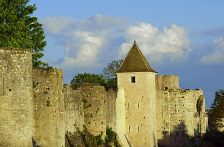 The medieval towers and ramparts in Provins, France Stock Photo