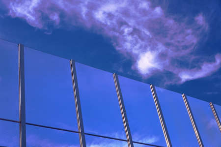 baffle: Transparent baffle against the blue sky