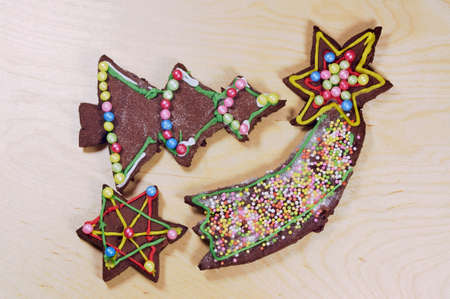 gingerbread cookies: Decorative gingerbread cookies for Christmas