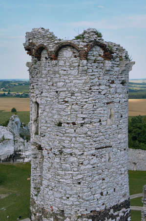 Tower of the ruined castle in Ogrodzieniec photo