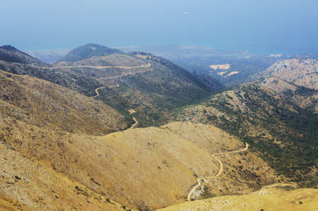 corfu: Landscape in mountains, Corfu island in Greece