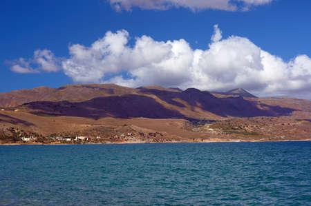 monastery nature: Sea coast on the island of Crete, Greece