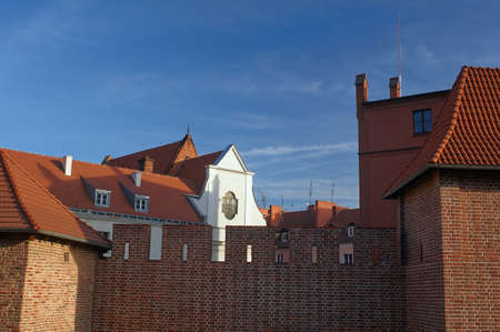 poznan: Medieval towers and defensive wall in Poznan Stock Photo