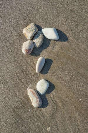 corfu: Pebble on the beach on the Greek island of Corfu Stock Photo