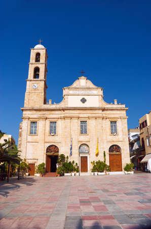 ade: Cathedral of the Three Martyrs in Chania on the island of Crete, Stock Photo