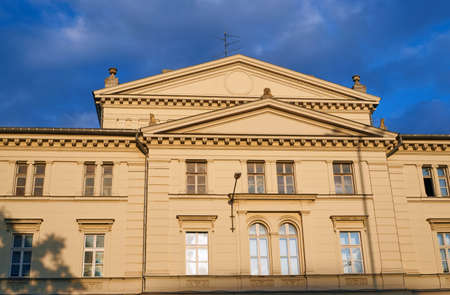and arcadia: The facade of the building Arcadia - the former municipal theater in Poznan Stock Photo