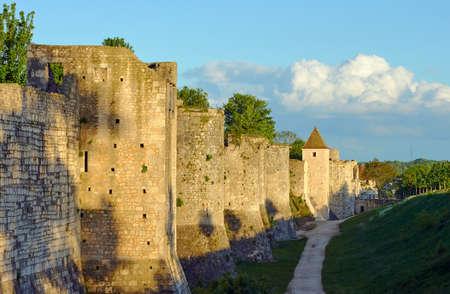 The medieval towers and ramparts in Provins, France Editorial