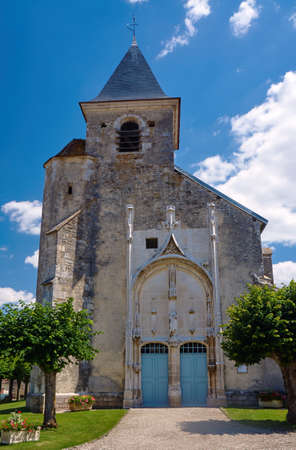 ade: Medieval parish church in Champagne, France Stock Photo