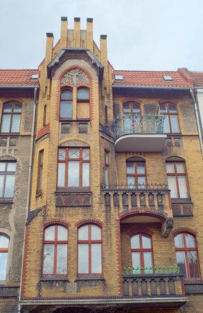 clinker: Clinker on the facades of the Art Nouveau buildings in Poznan