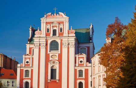 parish: facade of baroque parish church in Poznan
