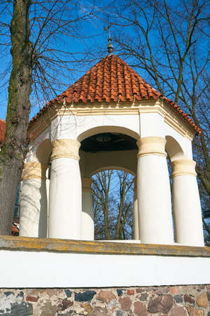 belfry: Belfry baroque church in village in Poland