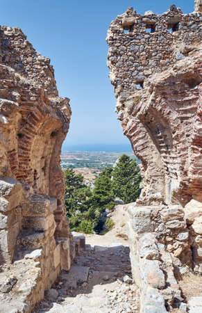 palio: The ruins of the stone gate of the ancient city of Palio Pyli on the island of Kos in Greece