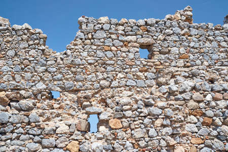 palio: Stone ruins of the ancient city of Palio Pyli on the island of Kos in Greece