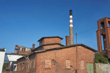 wielkopolska: The chimney of an old brick distillery distillery in Poland Stock Photo