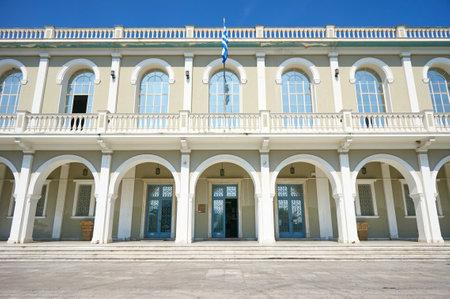 ade: facade of the museum in Zante City, Greece