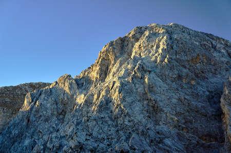 sewn: Rocky sewn in the White Mountains on the island of Crete Stock Photo