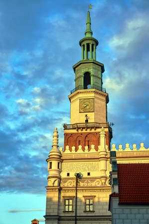 renaissance: The tower of the Renaissance town hall in Poznan, Poland