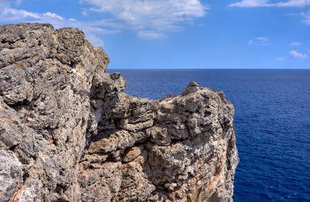 seacoast: rocky cliff on the seacoast island of Rhodes
