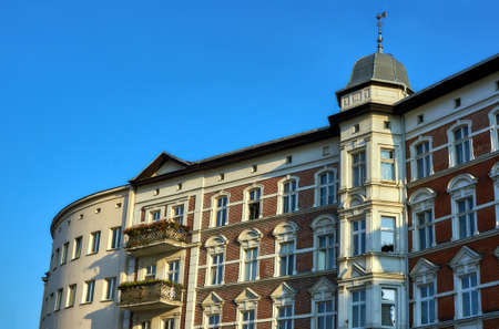 clinker: Clinker on the facade of the Art Nouveau building in Poznan Editorial
