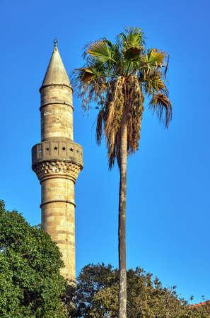kos: Turkish minaret on Kos island in Greece