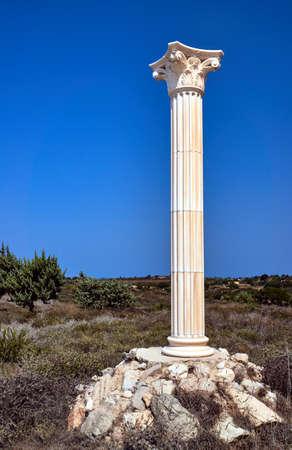 corinthian: Reconstruction of Corinthian columns on the island of Kos, Greece Stock Photo