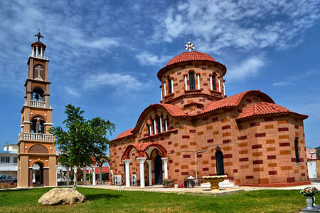 the orthodox church: Orthodox church with a bell tower on the island of Rhodes in Greece