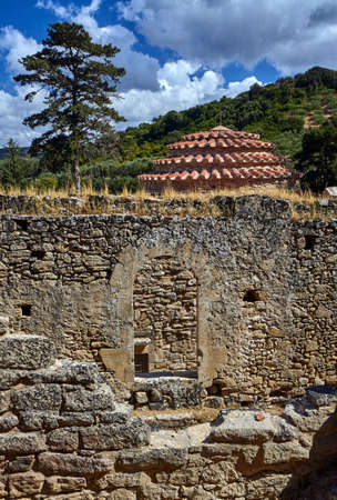 dome: Stone, Byzantine temple with a dome on the island of Crete